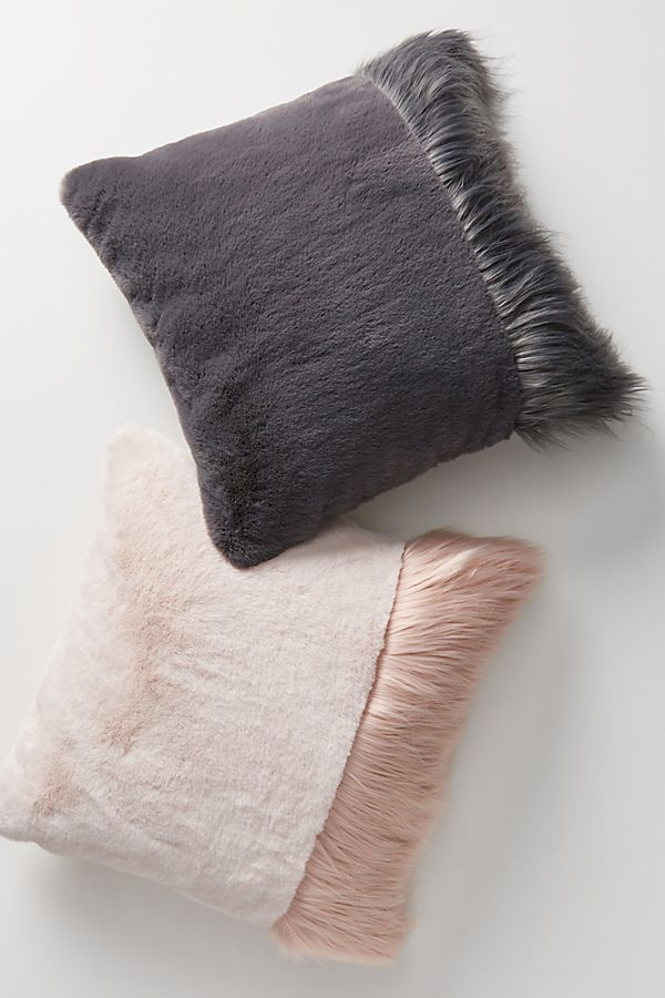 Slide View: 2: Tara Faux Fur Pillow