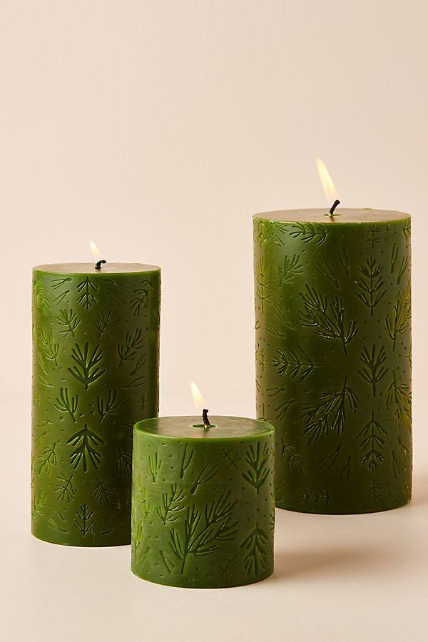 Slide View: 1: Balsam and Cedar Pillar Candle