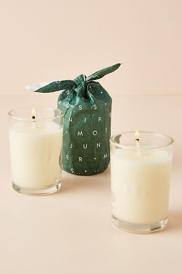 Slide View: 1: Bundled Glass Candle