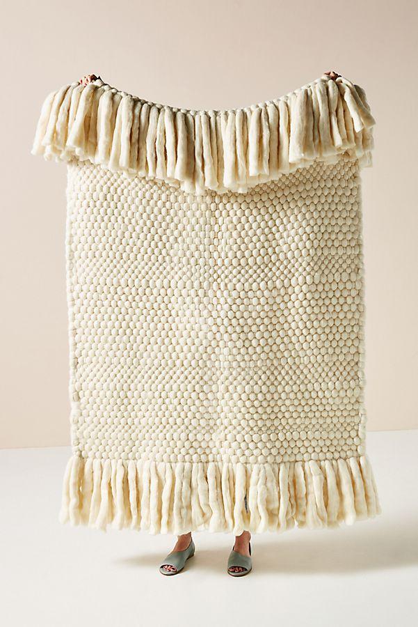 Slide View: 1: Bobbie Wool Throw Blanket