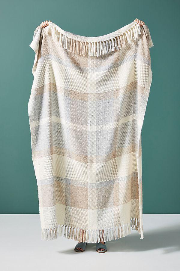 huron-windowpane-throw-blanket by anthropologie