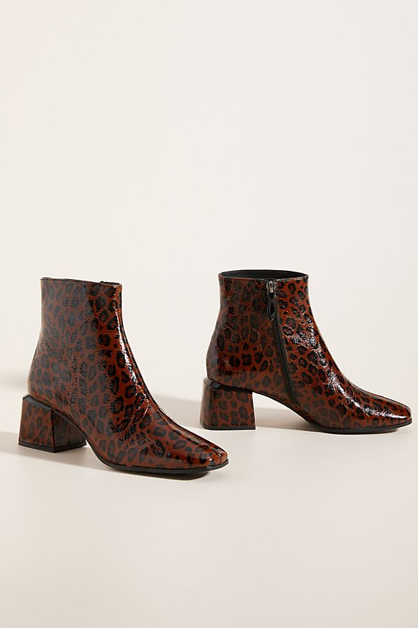 Bruno Premi Patent Leather Ankle Boots
