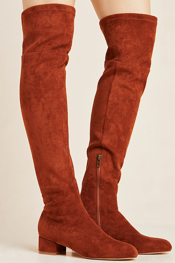 new photos customers first buy best Suede Over-The-Knee Boots