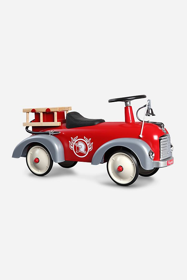 Slide View: 1: Baghera Speedster Fireman Ride-On Car
