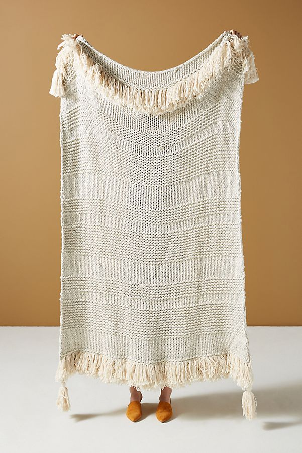 Slide View: 1: Woven Marley Throw Blanket