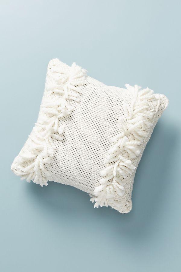 Slide View: 1: Crochet Fringe Pillow