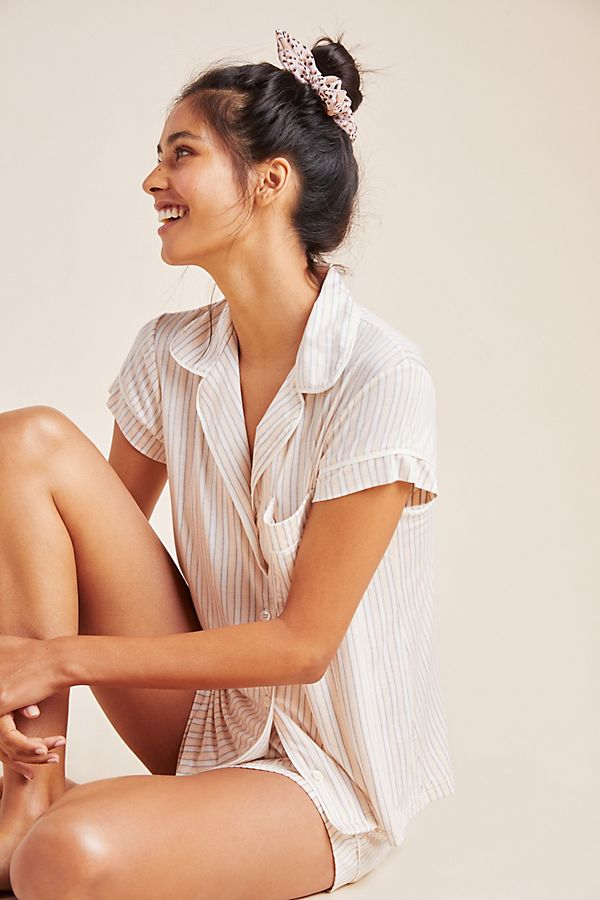 Slide View: 1: Eberjey Striped Shorts Sleep Set