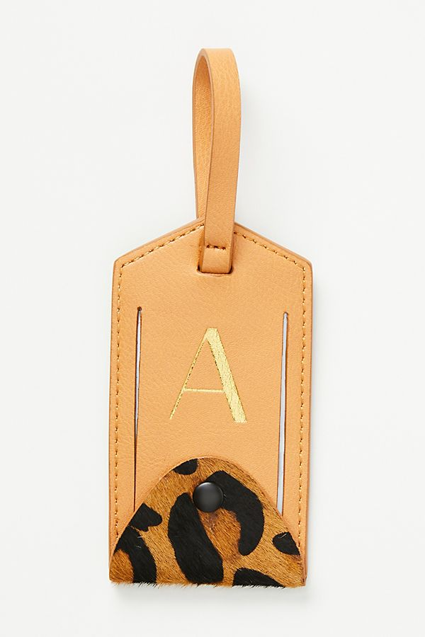 Slide View: 2: Animalia Monogram Luggage Tag