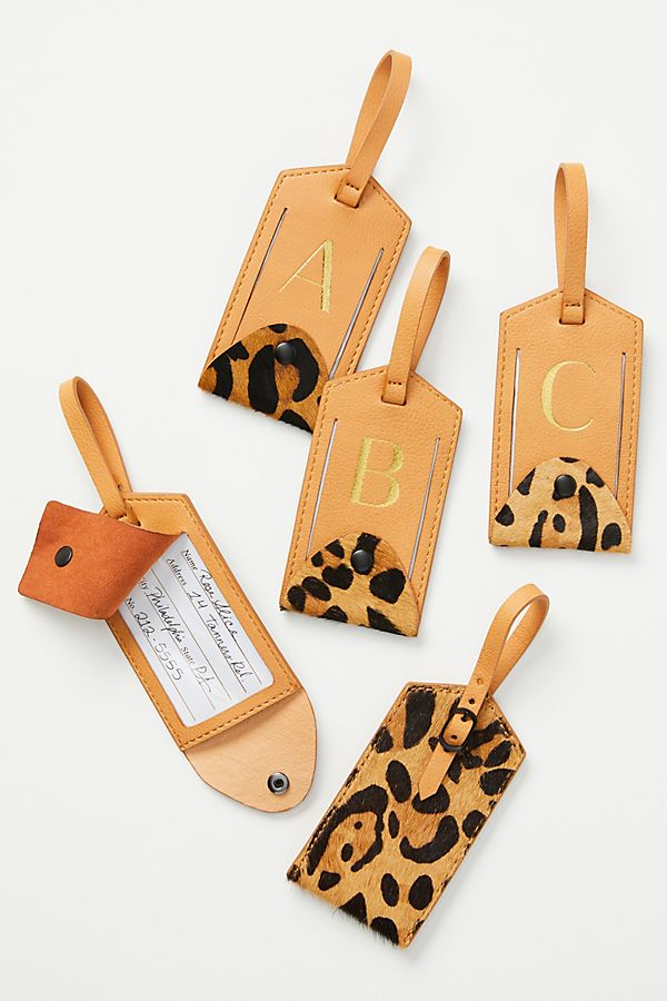Slide View: 1: Animalia Monogram Luggage Tag
