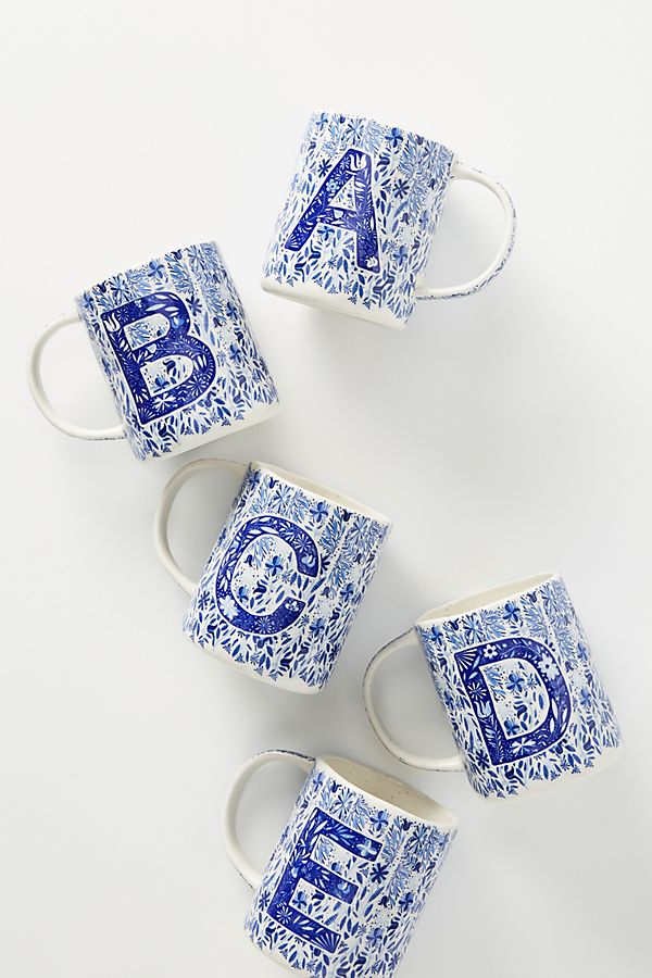 folksong-monogram-mug by anthropologie