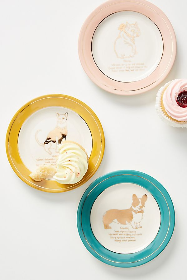 Slide View: 1: Dog Biography Canape Plate