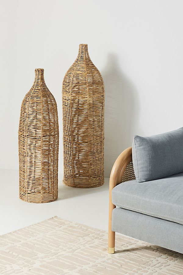 Slide View: 1: Birdie Wicker Vases, Set of 2
