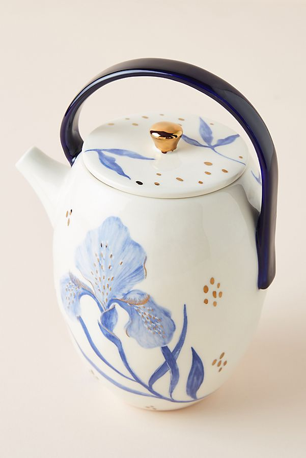 Slide View: 1: Tile Tile Testo Azure Teapot