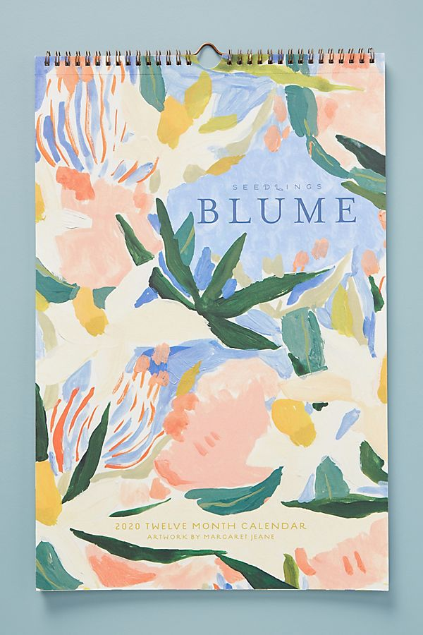 Seedlings Blume 2020 Calendar