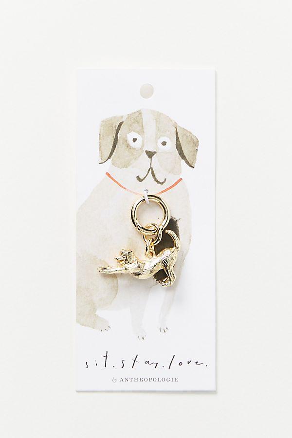 Slide View: 1: Downward Dog Collar Charm