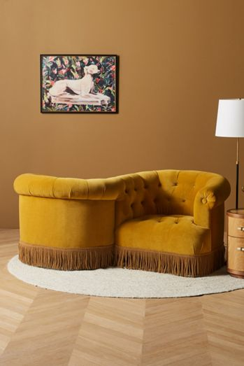 Soho Home x Anthropologie Curved Chesterfield Tete-A-Tete
