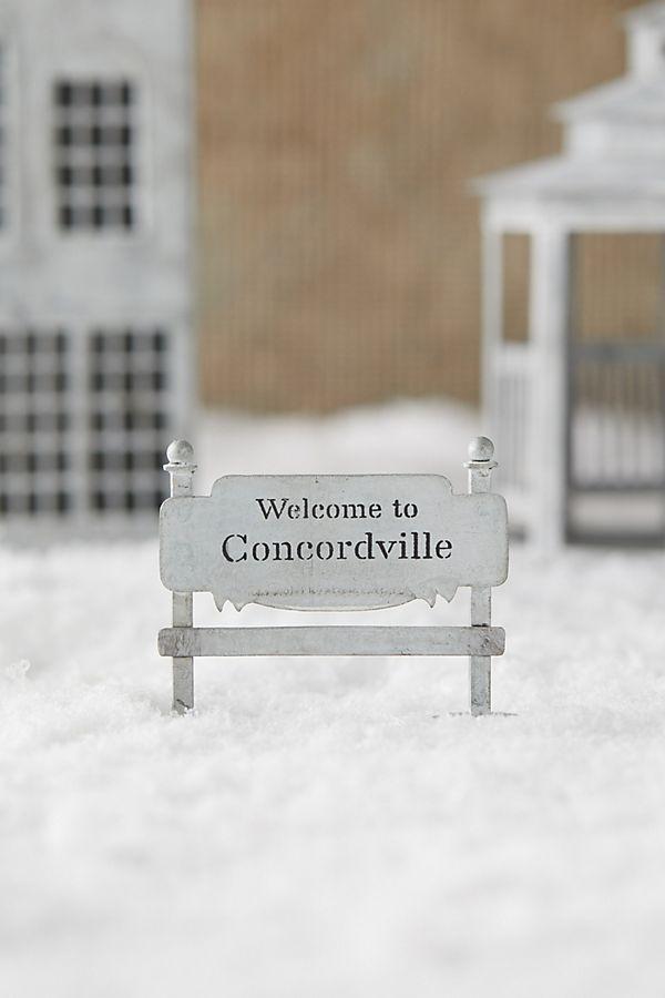 Concordville Zinc Welcome Sign