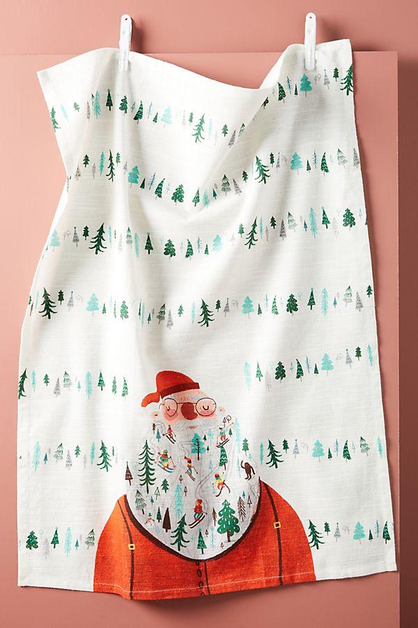 Slide View: 1: Julia Green Jolly Santa Dish Towel