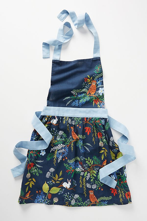 Slide View: 1: Rifle Paper Co. for Anthropologie Winter Floral Apron