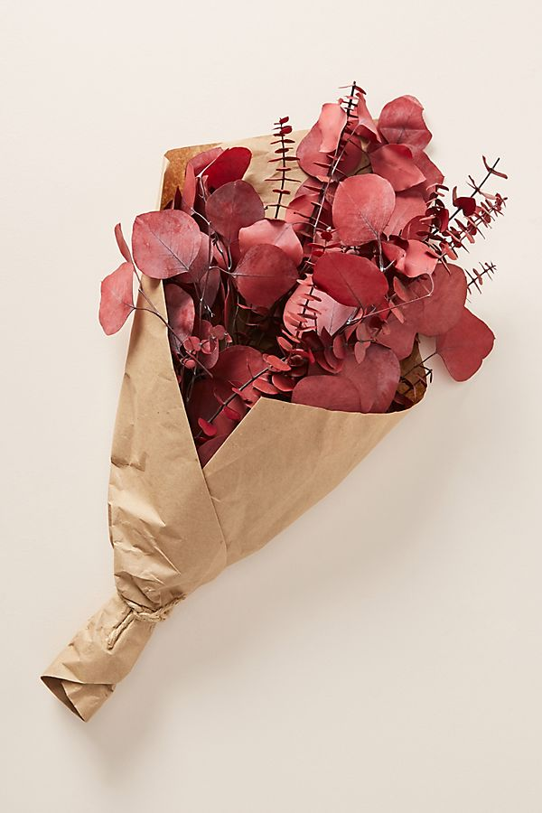 Slide View: 1: Dried Red Eucalyptus Bouquet