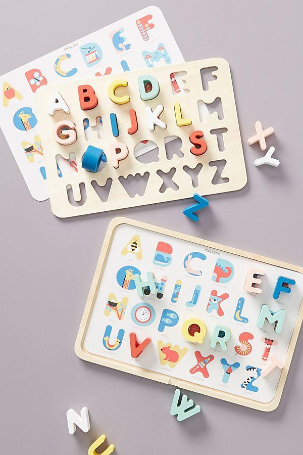 Slide View: 1: Alphabet Tray Puzzle Set