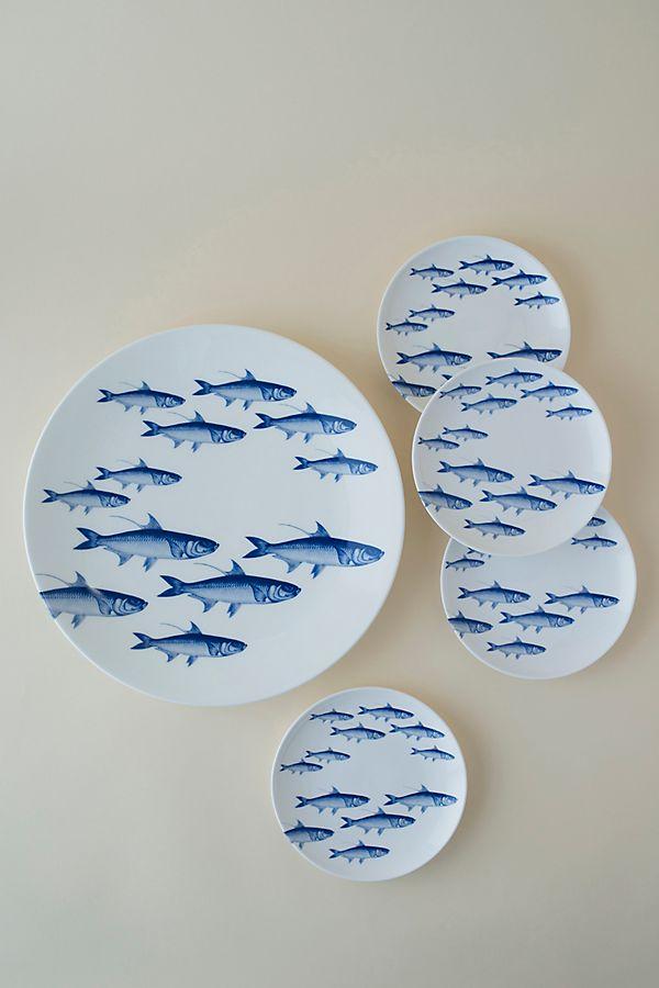 Slide View: 2: Caskata School of Fish Round Platter