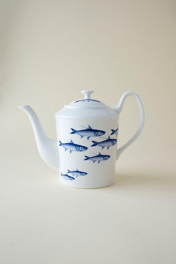 Slide View: 1: Caskata School of Fish Tall Teapot