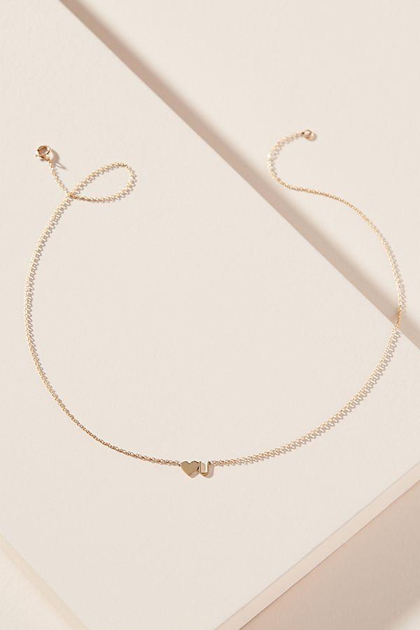 Heather Hawkins 14 K Gold Heart U Necklace by Heather Hawkins