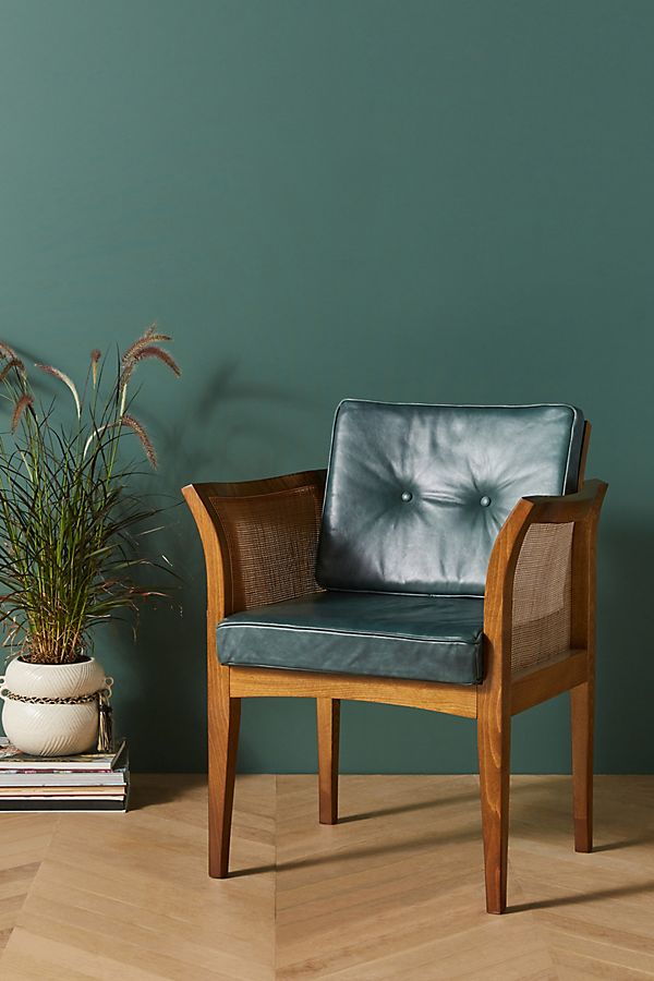 Soho Home X Anthropologie Willow Leather Dining Chair