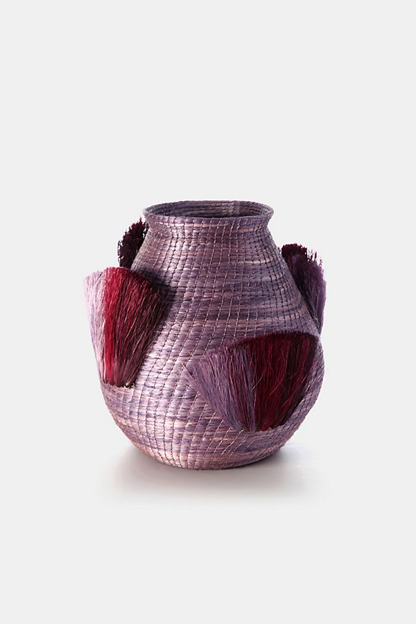 Slide View: 1: Charlie Sprout Fanned Out Bulbous Small Vase