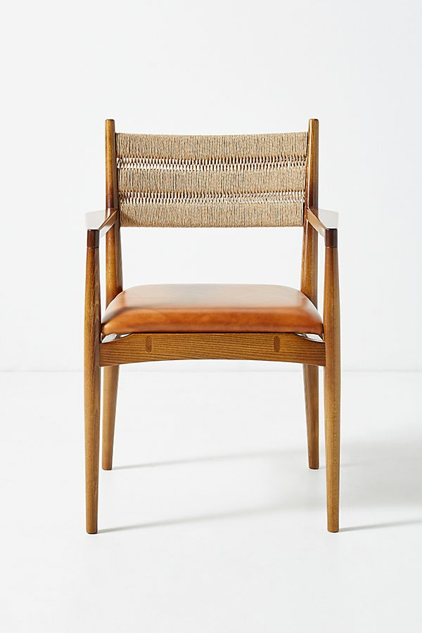Slide View: 1: Soho Home x Anthropologie Roped Back Dining Chair