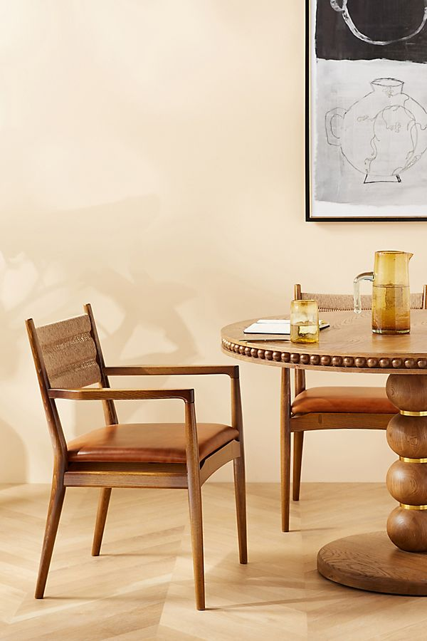 Slide View: 9: Soho Home x Anthropologie Roped Back Dining Chair
