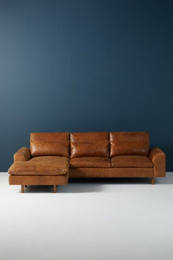 Mirren Reversible Leather Chaise Sectional