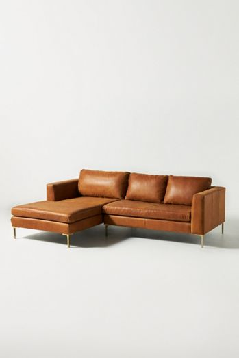 Edlyn Petite Leather Sectional