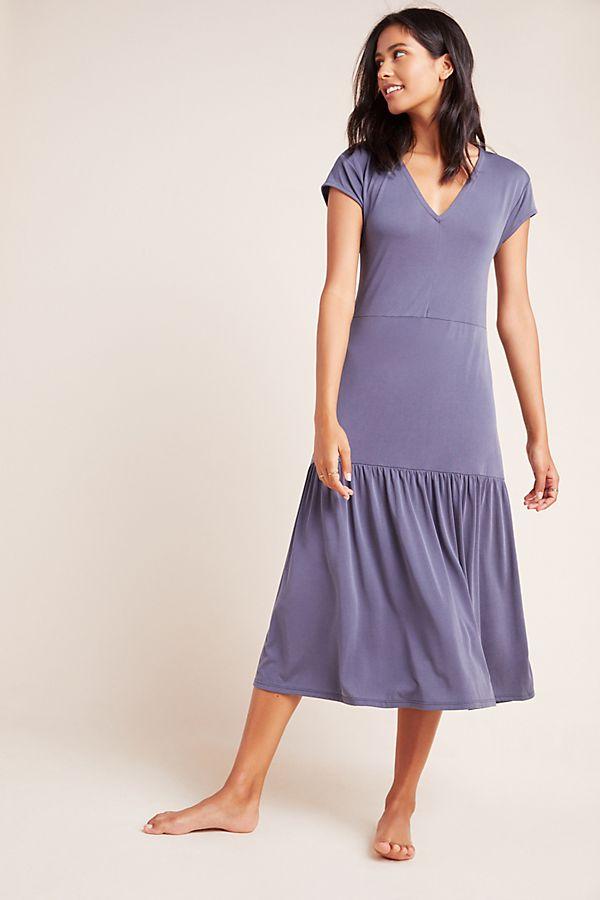 Slide View: 1: Erica V-Neck Midi Dress