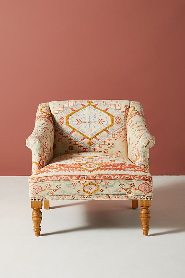 Slide View: 2: Rug-Printed Sally Accent Chair