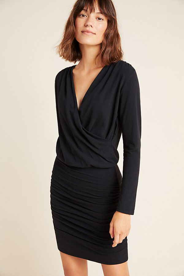Slide View: 1: Sundry Ruched Surplice Dress