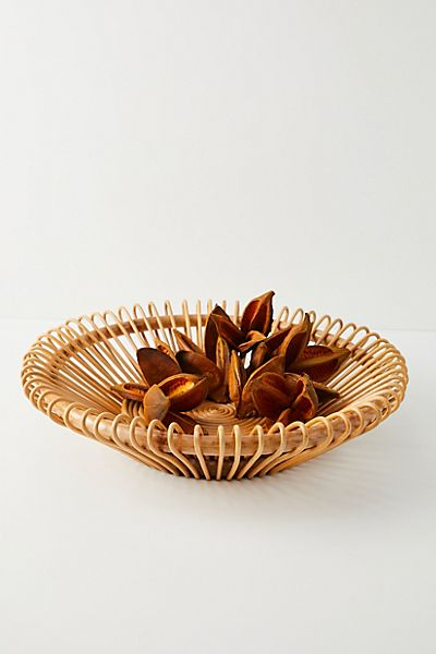Moana Handwoven Rattan Bowl