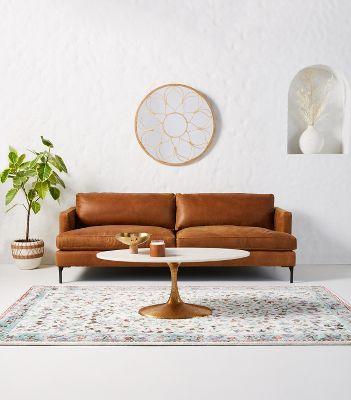 - Bowen Leather Sofa Anthropologie