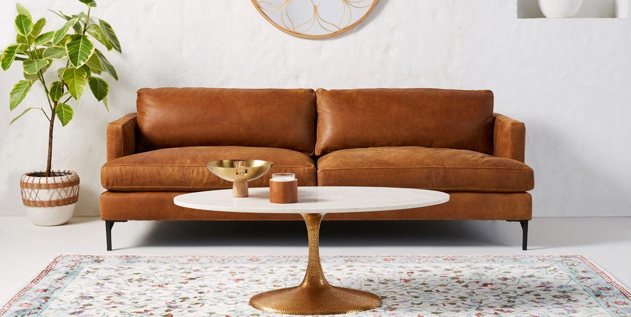 Bowen Leather Sofa Anthropologie