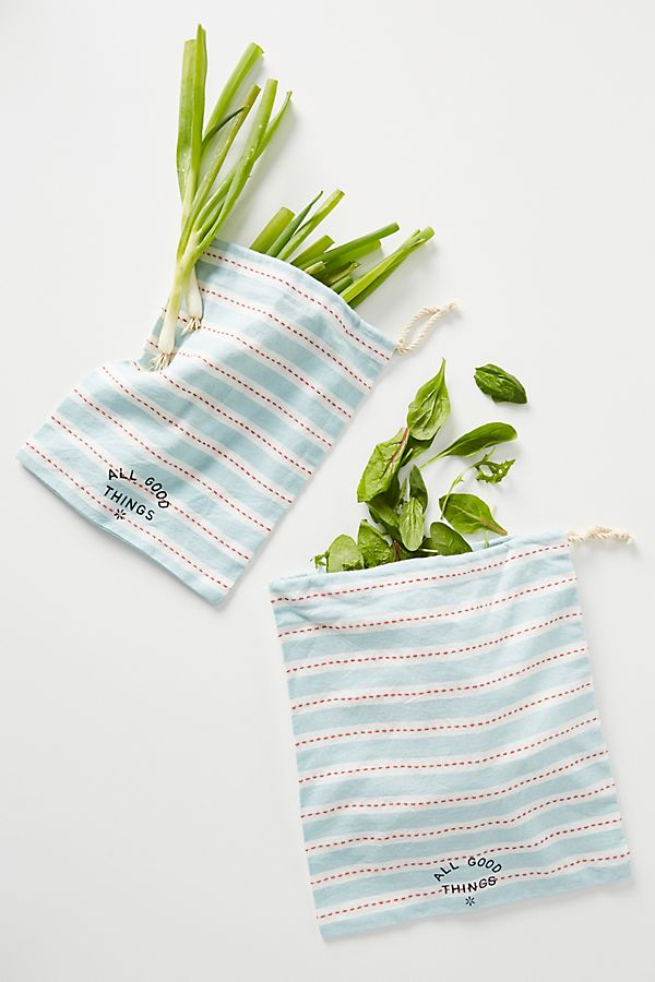 Slide View: 1: Reuseable Produce Bags, Set of 2