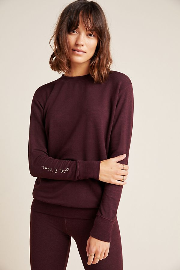 Slide View: 1: Sundry Je T'aime Embroidered Sweater