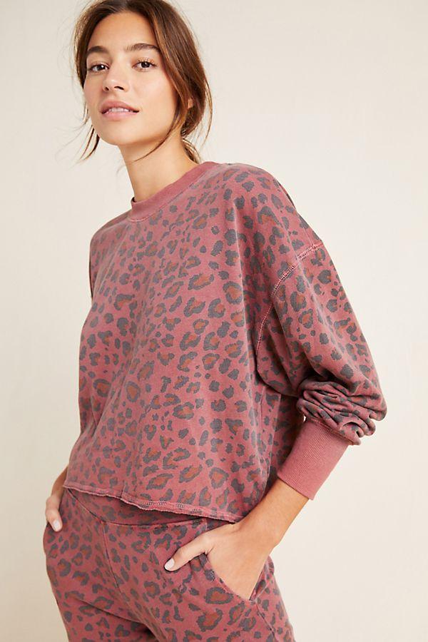 Slide View: 1: Sundry Leopard Sweatshirt