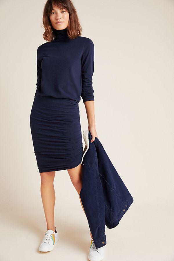 Slide View: 1: Sundry Liana Ruched Midi Dress