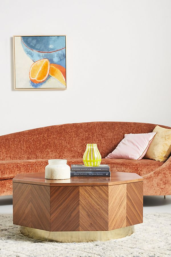 Slide View: 1: Quillen Marquetry Coffee Table