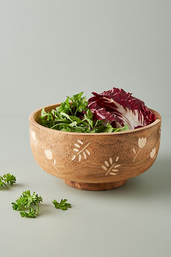Slide View: 1: Rosemary Serving Bowl