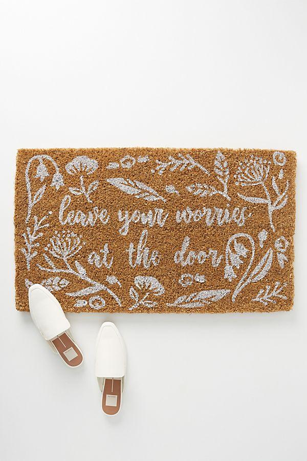 Slide View: 1: Leave Your Worries at the Door Doormat