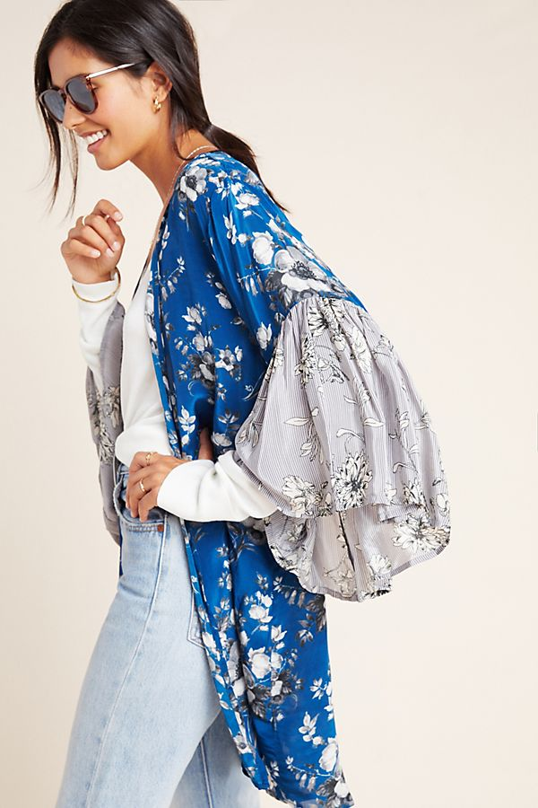 Slide View: 1: Salma Bell-Sleeved Kimono