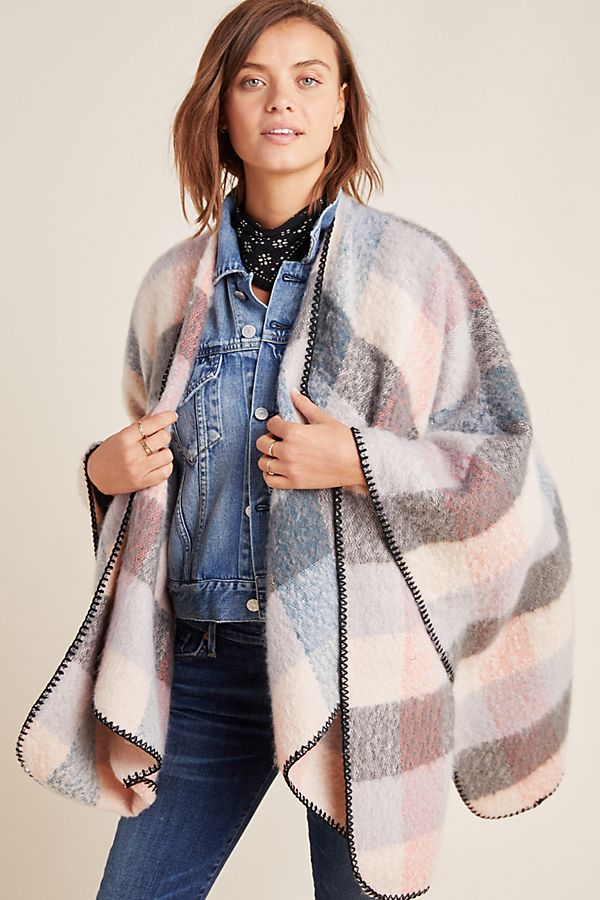 Slide View: 1: Ashlyn Plaid Kimono