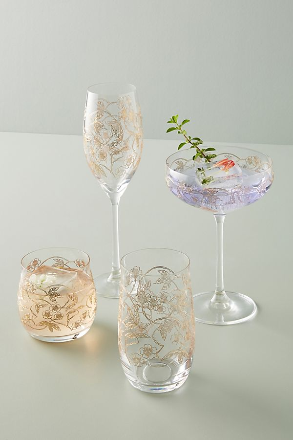 Slide View: 3: Fiorella Coupe Glasses, Set of 4